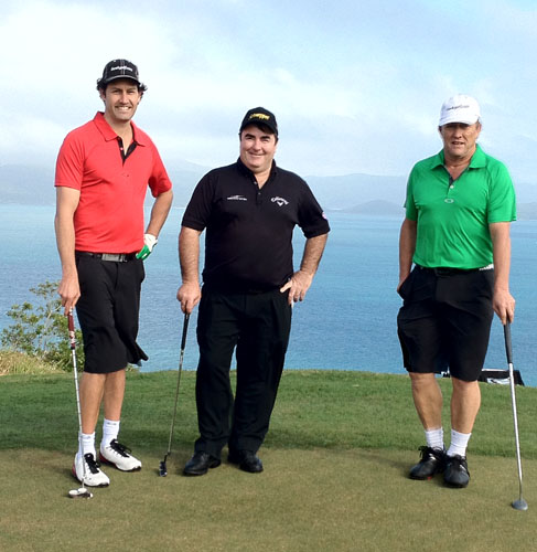 Craig-Parry-with-Mirror-Fade-4th-green-at-Hamilton-Island-Golf-Club